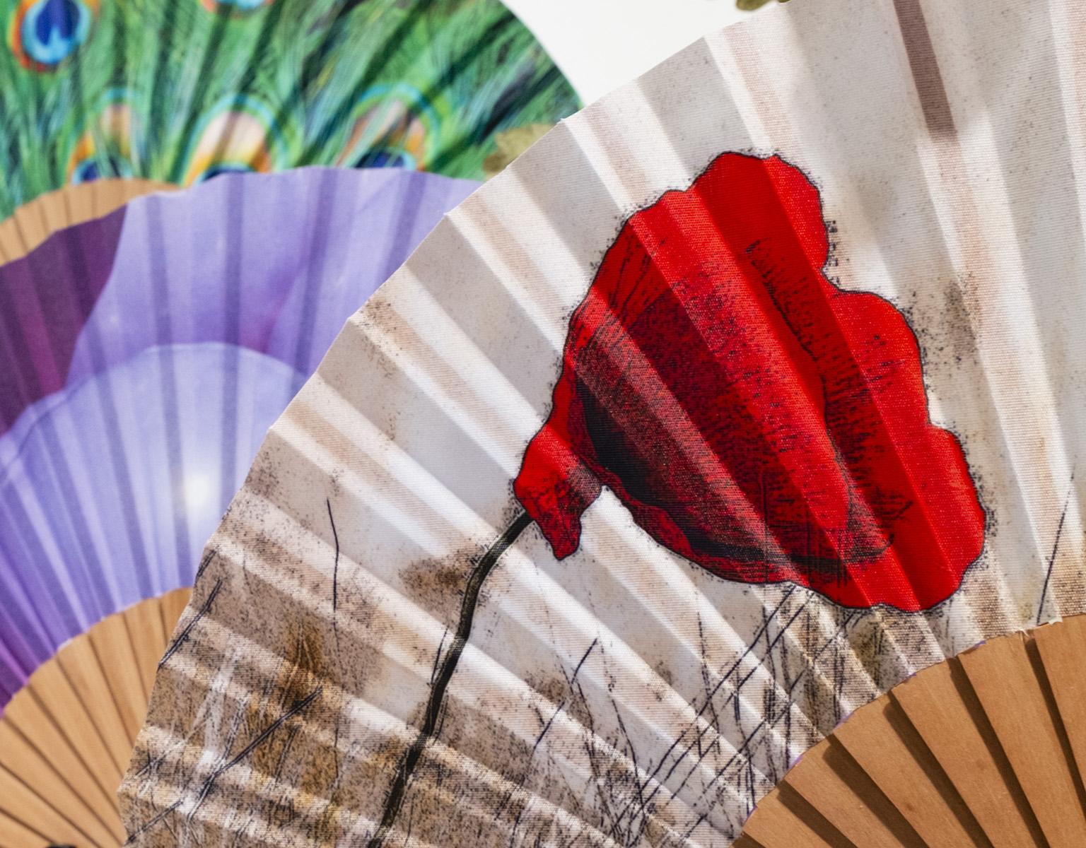 handmade folding silk fans