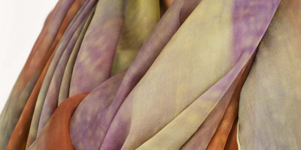 New collection of hand-painted Natural Silk Scarves, C. Menéndez. Summer 2020.